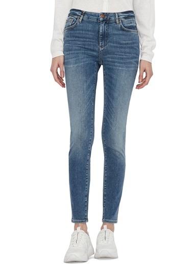 Armani Exchange  Pamuklu Super Skinny Fit J69 Jeans Kadın Kot Pantolon 3Kyj69 Y2Daz 1500 Mavi